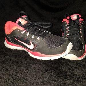 Pink black nikes